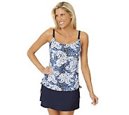 Ocean Dream Signature Bohemian Chic Shirred Tankini w/ Swim Skirt - A231062