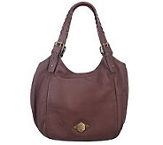 As Is Luxe Rachel Zoe Leather Double Shoulder Strap Hobo Bag - A224463