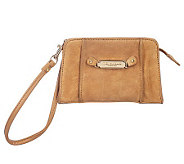 Tignanello Suede Wristlet with Logo Plaque - A217764
