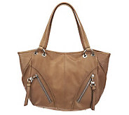 B. Makowsky Glove Leather Tote with Zipper Pockets - A221264