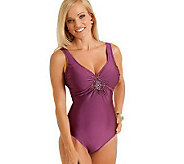 Carol Wiors Slimsuit Sweetheart Tank with Trim - A322964