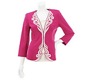 Bob Mackies Rococo Embroidered Cocktail Jacket - A230765