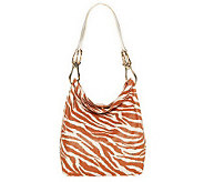 JPK Paris75 Animal Print Canvas Bucket Bag with Leather Handle - A224666