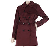 Kris Jenner Kollection Trench Coat with Byzantium Appliques - A219268