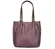 As Is Isaac Mizrahi Live! Pebble Leather Tote Bag w/ Ring Detail - A230872