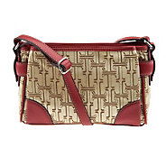 Tignanello Signature Print Double Entry Crossbody Bag - A222073
