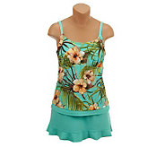Ocean Dream Signature Aloha Breeze Faux Layer Tankini - A223673
