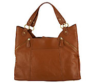 Wendy Williams Pebble Leather with Croco Trim Shopper Bag - A225573