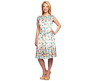 Isaac Mizrahi Live! Engineered Floral Print Dress - A233274