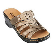 Clarks Bendables Lexi Holly Leather Light- Weight Slides - A229879