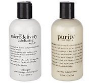 philosophy purity & micro- delivery wash am to pm 8oz. cleansing duo - A212682