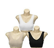 Breez-Ease Set of 3 Seamless Comfort Bras with UltimAir - A219882