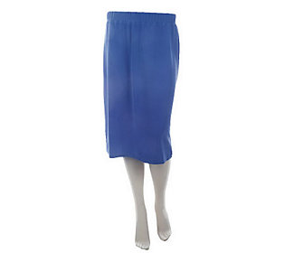 Susan Graver Lustra Knit Slim Skirt with Elastic Waistband