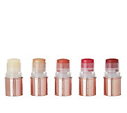 Josie Maran Set of Five Argan Lip & Cheek Color Sticks - A218786