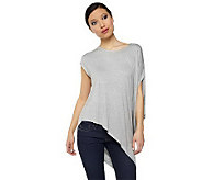 K-DASH by Kardashian Knit Top with Asymmetrical Hem - A224087