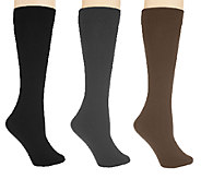 Legacy Legwear Set of 3 Flip Side Fleecy Socks - A217089