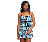 Fit 4 U Thighs Carnaby Street Bandeau Tie Swim Dress - A231089