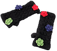 Nirvanna Crochet Handwarmers Detachable Flowers - A326290