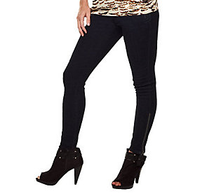 K-DASH by Kardashian Petite Skinny Pants with Zipper Hem