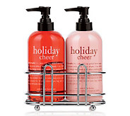 philosophy holiday cheer hand wash & hand lotion duo with caddy 8oz - A219392