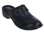Clarks Artisan Mill Point Leather Clogs with Hardware Detail - A217093