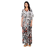 Joan Rivers Regular Length Safari Chic Embellished Caftan - A230493