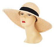 San DiegoHatCo. UPF-50 Raffia Hat with Ribbon - A231993