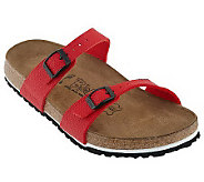Birkis Tahiti Pebbled Texture Double Strap Soft Footbed Sandals - A213495
