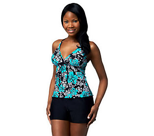 Ocean Dream Signature Calypso Dance X-Back Tankini w/ Shorts