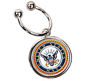 JFK Half Dollar Key Ring/Navy - C211633