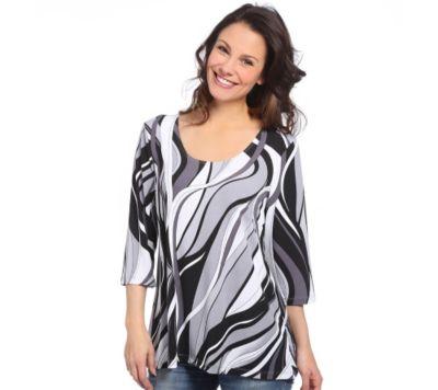 KIM & CO. Brazil-Knit-Jersey Shirt, 3/4-Arm A-Linie Druckvielfalt