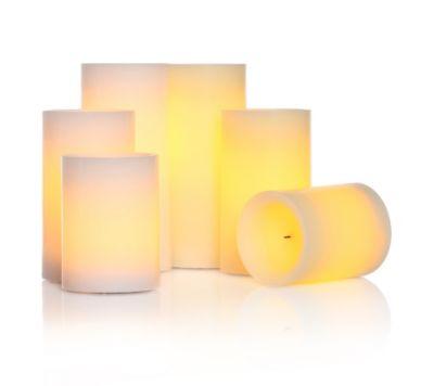 ELAMBIA Flammenlose Kerzen 2 Farben im Set Timerfunktion 6-tlg.