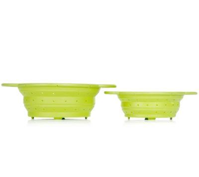 BONDIDOU Küchensieb faltbar aus Sikon Größen S & M Set 2tlg.