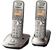 Panasonic KX-TG4012N DECT 6.0 Two-Handset Cordless Phone - E219606