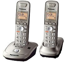 Panasonic KX-TG4012N DECT 6.0 Two-Handset Cordless Phone