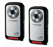 Toshiba Camileo Set of 2 Waterproof 1080p HD Pocket Camcorder - E269506
