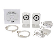 D-Link Set of 2 Day/Night Wireless Home Security Cameras - E224207