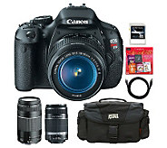 Canon EOS Rebel T3i DSLR Camera 3 Lens Bundle - E267607
