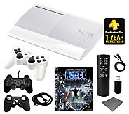 Playstation 3 500GB Classic White Bundle w/ Star Wars & More! - E267016