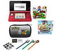 Nintendo 3DS with Super Mario Land 3D, Pokemon& More - E268117