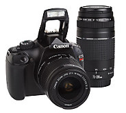 Canon EOS Rebel T3 DSLR 12MP Camera with 2 Lenses & Bag - E224618