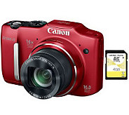 Canon PowerShot SX160 16MP, 16X Zoom DigitalCamera Kit - E270018