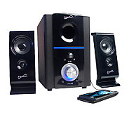 SuperSonic 2.1 Multimedia Speaker System with USB/SD Inputs - E264048