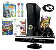 Xbox 360 4GB Slim & Kinect - Family Fun 4 Gam eBundle & More