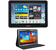 Samsung 10.1 16GB Galaxy Tab 2 w/ Adjustable Easel Case - E262151