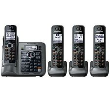 Link-to-Cell KXTG7643M Bluetooth TCID Conv. Phone w/4 Handset