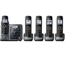 Link-to-Cell KXTG7645M Bluetooth TCID Conv. Phone w/5 Handset