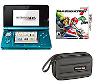 Nintendo 3DS with Mario Kart 7 & Carrying Case - E257265