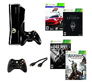 Xbox 360 Bundle w/ Call of Duty Black Ops 2 & Assassins Cree - E264869