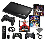 PS3 Slim 250GB Mega Bundle with 3 Games and Accessories - E265477